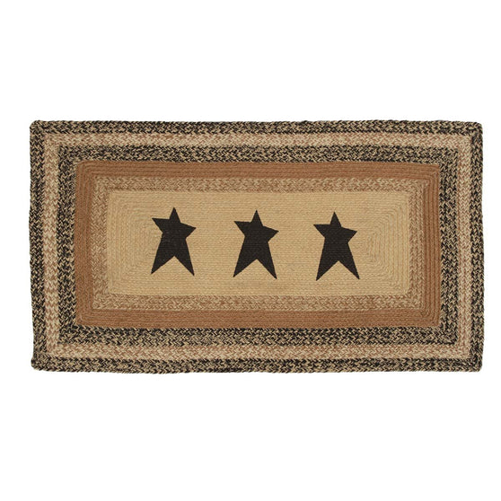 VHC-Brands-Mayflower-Market-Primitive-Rugs-Kettle-Grove-Jute-Rug-27x48-Natural-Country-Black-Caramel