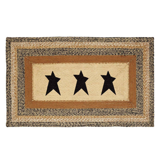 VHC-Brands-Mayflower-Market-Primitive-Rugs-Kettle-Grove-Jute-Rug-36x60-Natural-Country-Black-Caramel