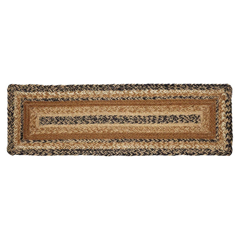 VHC-Brands-Mayflower-Market-Primitive-Rugs-Kettle-Grove-Jute-Stair-Tread-Latex-Country-Black-Caramel-Dark-Creme