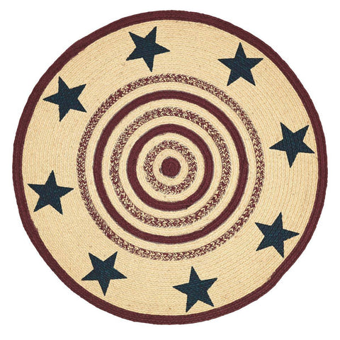 VHC-Brands-Mayflower-Market-Primitive-Rugs-Potomac-Jute-Rug-3-ft--Round-Natural-Burgundy-Navy