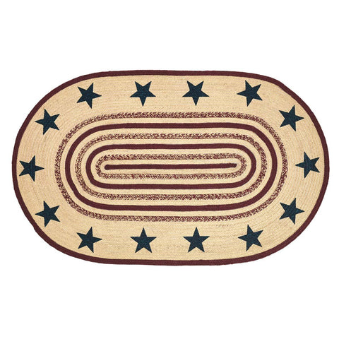 VHC-Brands-Mayflower-Market-Primitive-Rugs-Potomac-Jute-Rug-36x60-Natural-Burgundy-Navy