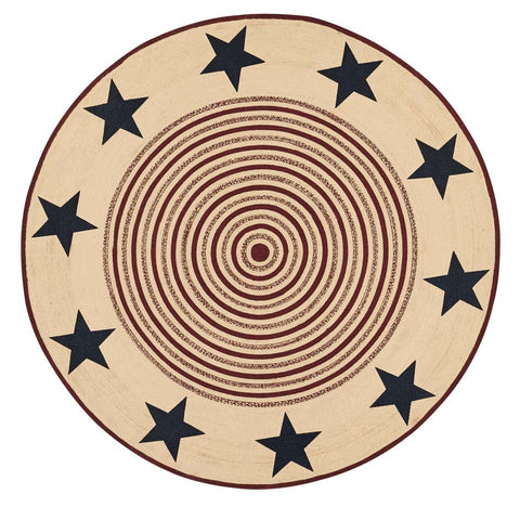VHC-Brands-Mayflower-Market-Primitive-Rugs-Potomac-Jute-Rug-8-ft-Round-Natural-Burgundy-Navy