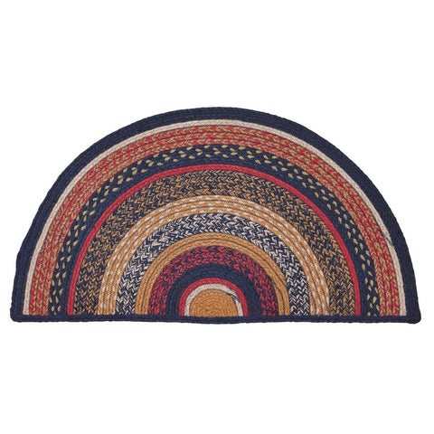 VHC-Brands-Mayflower-Market-Primitive-Rugs-Stratton-Jute-Rug-Half-Circle-16.5x33-Navy-Ruby-Copper