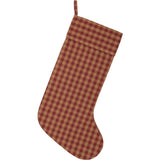 VHC-Brands-Seasons-Crest-Primitive-Seasonal-Burgundy-Check-Stocking-12x20-Burgundy-Natural