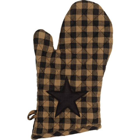 VHC-Brands-Mayflower-Market-Primitive-Tabletop-Kitchen-Black-Star-Oven-Mitt-Raven-Khaki