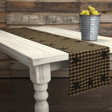 VHC-Brands-Mayflower-Market-Primitive-Tabletop-Kitchen-Black-Star-Runner-13x72-Raven-Khaki