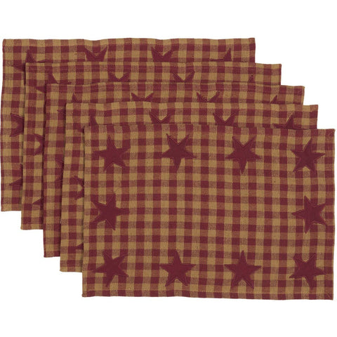 VHC-Brands-Mayflower-Market-Primitive-Tabletop-Kitchen-Burgundy-Star-Placemat-12x18-Set-6-Burgundy-Dark-Tan