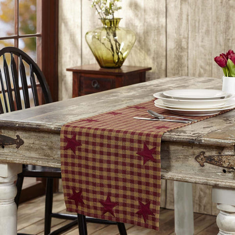 VHC-Brands-Mayflower-Market-Primitive-Tabletop-Kitchen-Burgundy-Star-Runner-13x72-Burgundy-Dark-Tan
