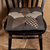 VHC-Brands-Mayflower-Market-Primitive-Tabletop-Kitchen-Farmhouse-Star-Chair-Pad-Charcoal-Dark-Tan-Creme
