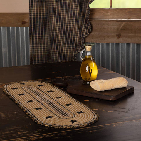 VHC-Brands-Mayflower-Market-Primitive-Tabletop-Kitchen-Kettle-Grove-Jute-Runner-8x24-Natural-Country-Black-Caramel
