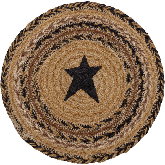 VHC-Brands-Mayflower-Market-Primitive-Tabletop-Kitchen-Kettle-Grove-Jute-Trivet-Natural-Country-Black-Caramel