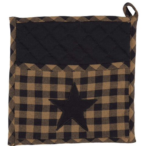 VHC-Brands-Mayflower-Market-Primitive-Tabletop-Kitchen-Navy-Star-Pot-Holder-Navy-Natural