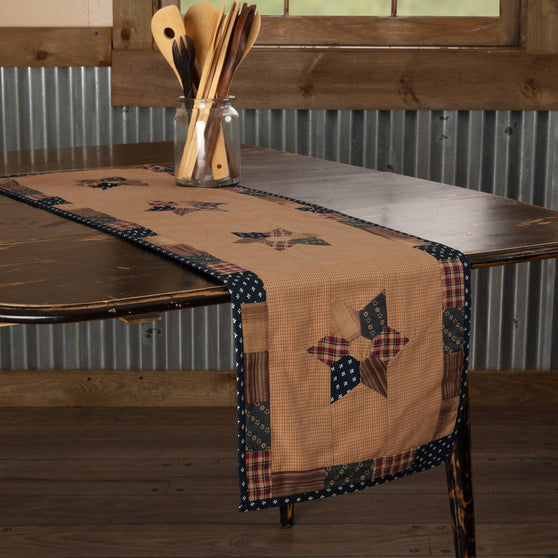 VHC-Brands-Mayflower-Market-Primitive-Tabletop-Kitchen-Patriotic-Patch-Runner-13x48-Deep-Red-Khaki-Navy