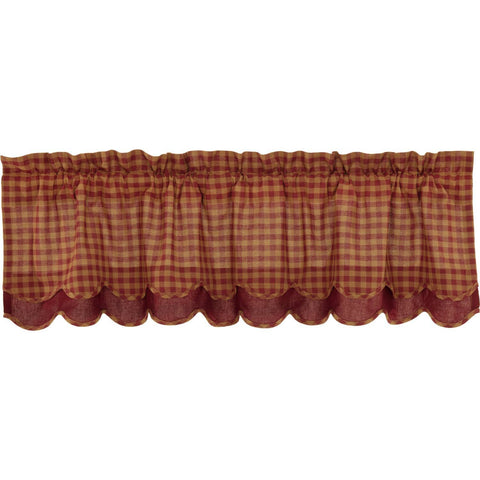 VHC-Brands-Mayflower-Market-Primitive-Window-Burgundy-Check-Valance-16x60-Burgundy-Dark-Tan