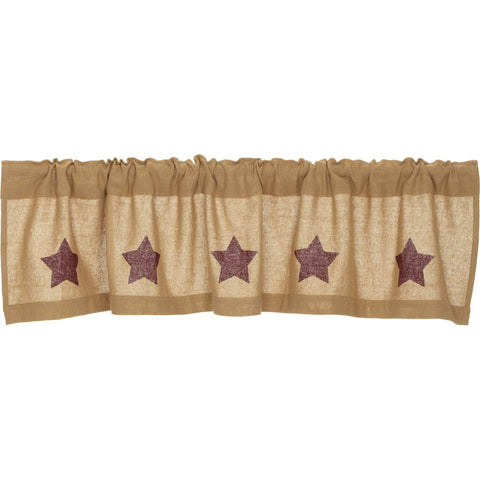 VHC-Brands-Mayflower-Market-Primitive-Window-Burlap-Natural-Burgundy-Stars-Valance-16x72-Natural-Burgundy