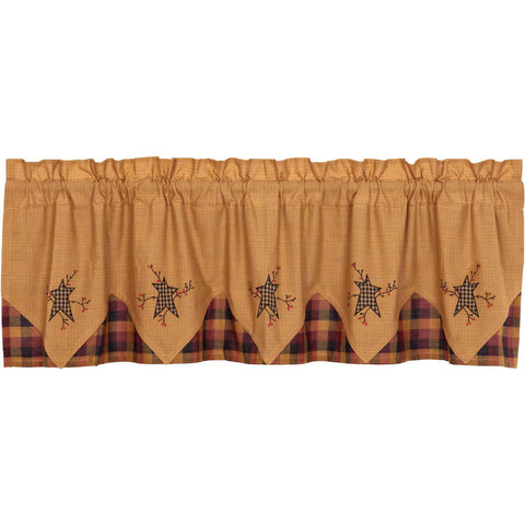 VHC-Brands-Mayflower-Market-Primitive-Window-Heritage-Farms-Valance-20x72-Mustard-Deep-Burgundy-Raven-Black