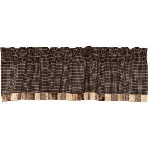 VHC-Brands-Mayflower-Market-Primitive-Window-Kettle-Grove-Valance-16x60-Country-Black-Khaki-Dark-Creme