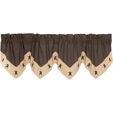 VHC-Brands-Mayflower-Market-Primitive-Window-Kettle-Grove-Valance-20x72-Country-Black-Khaki-Dark-Creme