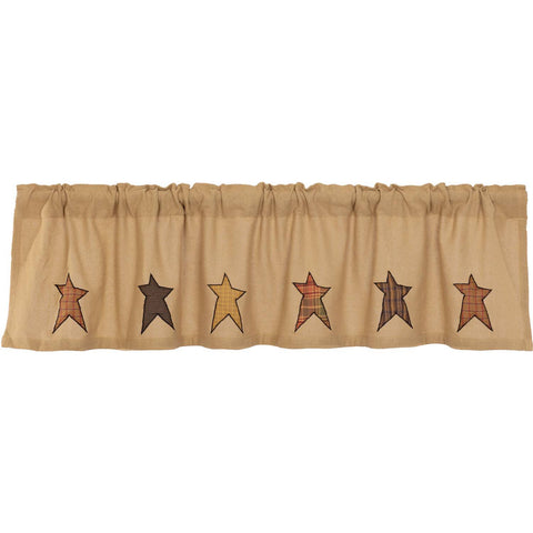 VHC-Brands-Mayflower-Market-Primitive-Window-Stratton-Valance-16x72-Natural-Red-Orange-Country-Black