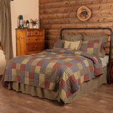 VHC-Brands-Oak-Asher-Rustic-Bedding-Cedar-Ridge-Quilt-Twin-Cedar-Green-Brick-Red-Navy
