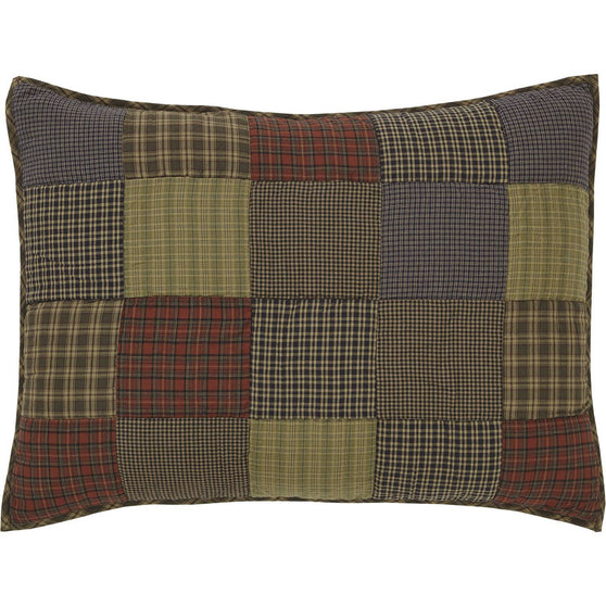 VHC-Brands-Oak-Asher-Rustic-Bedding-Cedar-Ridge-Sham-Standard-Quilted-Cedar-Green-Brick-Red-Navy