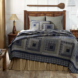 VHC-Brands-Oak-Asher-Rustic-Lodge-Bedding-Columbus-Quilt-Twin-Navy-Vanilla-Evergreen