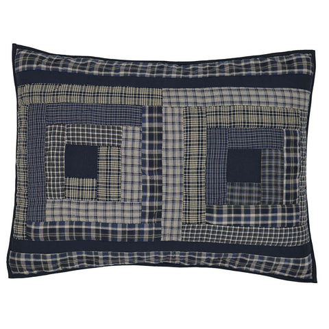 VHC-Brands-Oak-Asher-Rustic-Lodge-Bedding-Columbus-Sham-Standard-Quilted-Navy-Vanilla-Evergreen