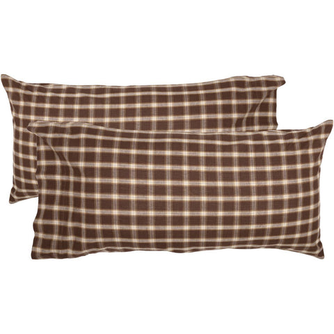 VHC-Brands-Oak-Asher-Rustic-Lodge-Bedding-Rory-Pillow-Case-King-Chocolate-Creme-Almond