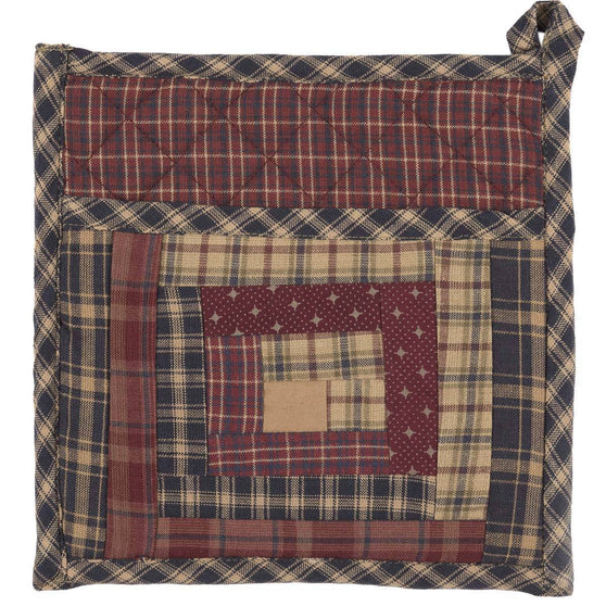 VHC-Brands-Oak-Asher-Rustic-Lodge-Tabletop-Kitchen-Millsboro-Pot-Holder-Burgundy-Khaki-Navy