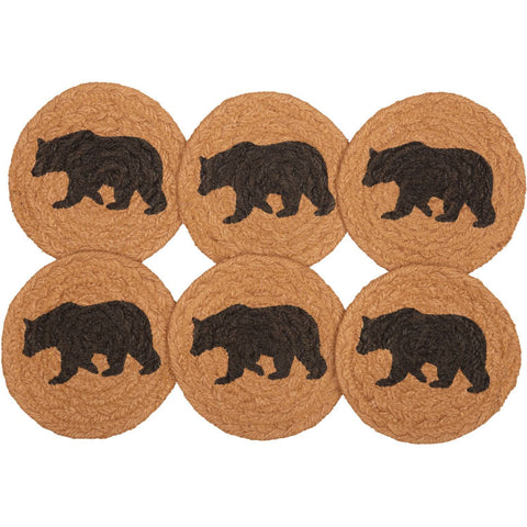 VHC-Brands-Oak-Asher-Rustic-Lodge-Tabletop-Kitchen-Wyatt-Jute-Coaster-Set-6-Espresso-Khaki