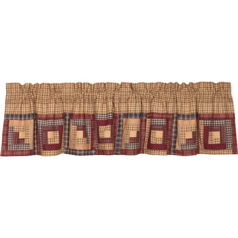VHC-Brands-Oak-Asher-Rustic-Lodge-Window-Millsboro-Valance-16x72-Khaki-Burgundy-Navy