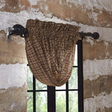 VHC-Brands-Oak-Asher-Rustic-Lodge-Window-Prescott-Balloon-Valance-15x60-Dark-Brown-Light-Tan-Creme