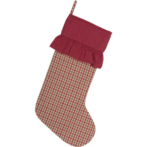 VHC-Brands-Seasons-Crest-Traditional-Seasonal-Jonathan-Plaid-Stocking-12x20-Natural-Deep-Red-Olive-Green
