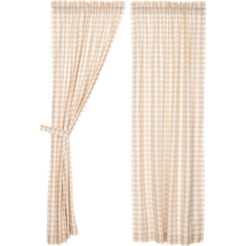 Annie Buffalo Check Tan Panel Set of 2 84x40