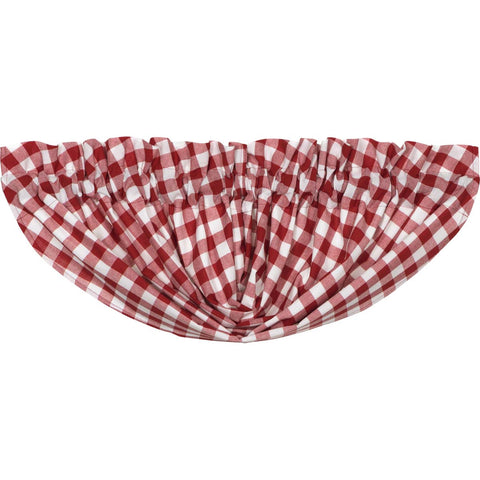 Buffalo Red Check Balloon Valance 15x60