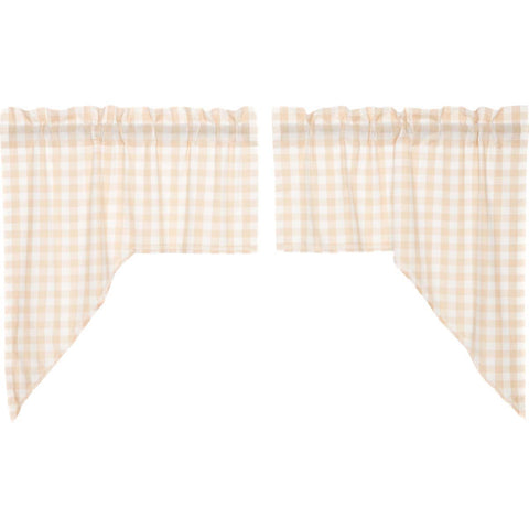 Annie Buffalo Check Tan Swag Set of 2 36x36x16