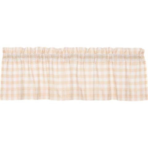 Annie Buffalo Check Tan Valance 16x60