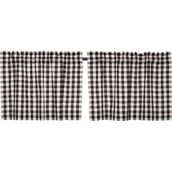 Annie Buffalo Check Black Tier Set of 2 L24xW36