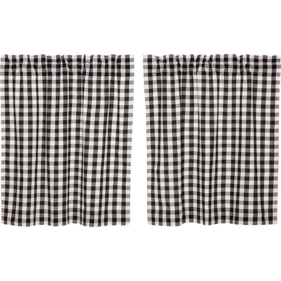 Annie Buffalo Check Black Tier Set of 2 L36xW36