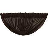 Burlap Chocolate Balloon Valance 15x60