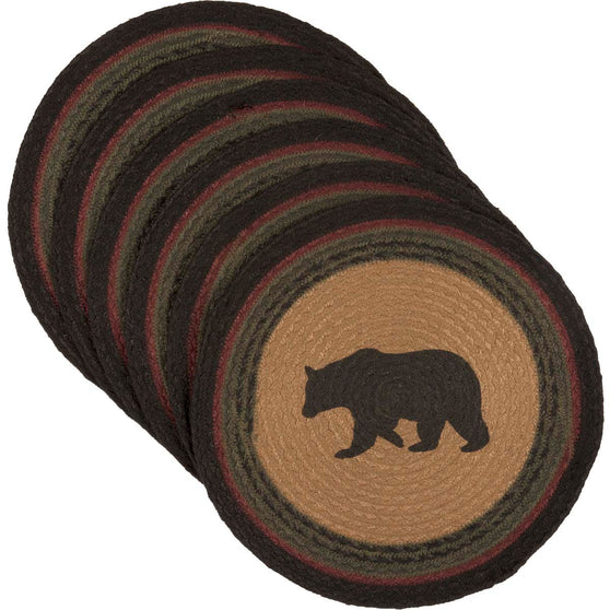 Wyatt Bear Jute Tablemat 13 Set of 6