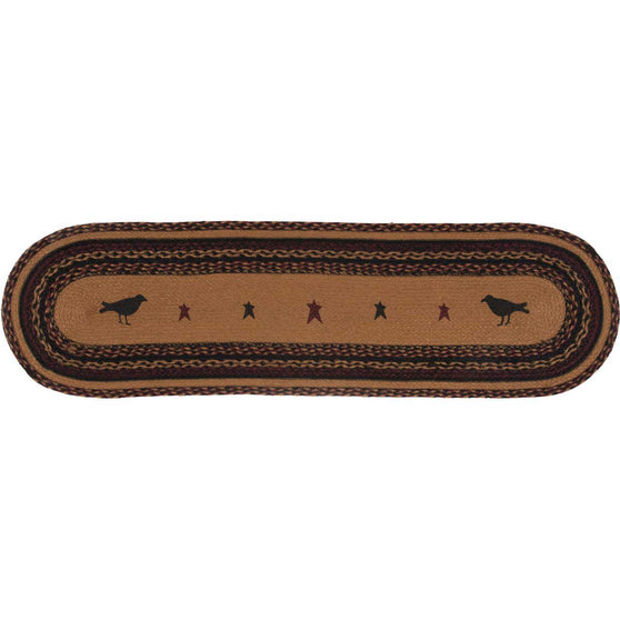 Heritage Farms Crow Jute Runner Oval 13x48