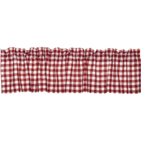 Buffalo Red Check Valance 16x72