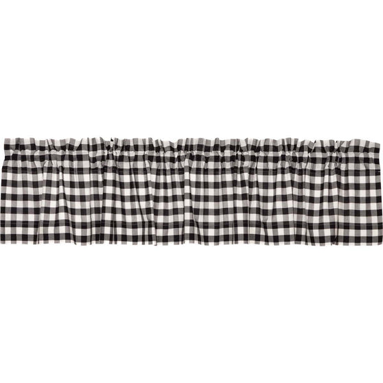 Annie Buffalo Check Black Valance 16x90