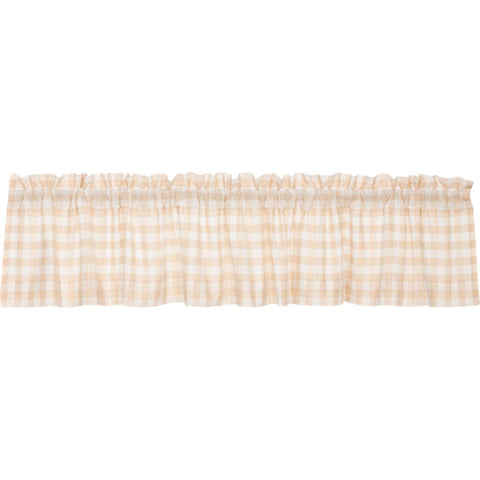 Annie Buffalo Check Tan Valance 16x90