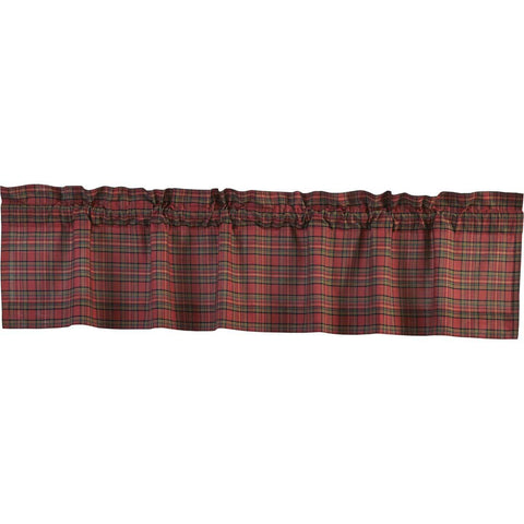 Tartan Red Plaid Valance 16x72