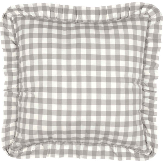 Annie Buffalo Check Grey Fabric Euro Sham 26x26