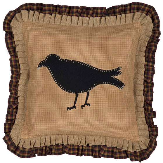 Primitive Crow Pillow 18x18