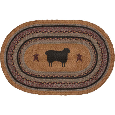 Heritage Farms Sheep Jute Rug Oval 20x30