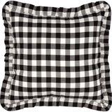 Annie Buffalo Check Black Fabric Pillow 18x18